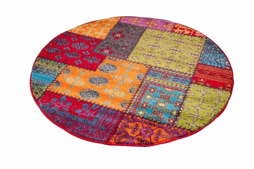 Patchwork Multi Color Oval 1