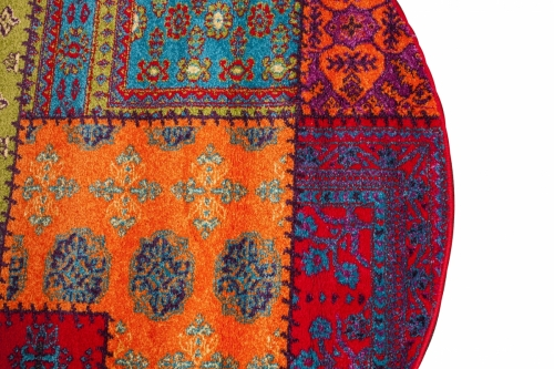 Patchwork Multi Color Oval 2